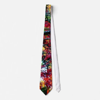 All Things Bright and Beautiful Colorful Leaves Neck Tie