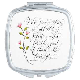 All things for good inspirational verse typography vanity mirror