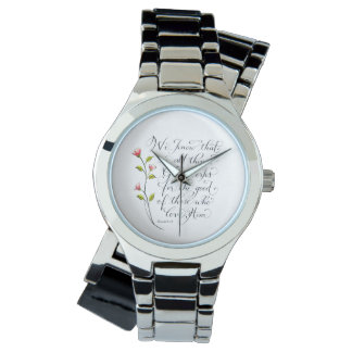 All things for good inspirational verse typography wrist watches