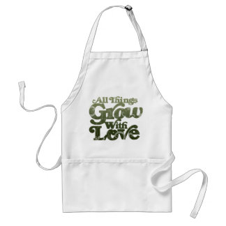 All Things Grow With Love Adult Apron