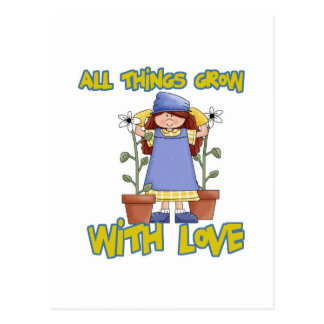 All Things Grow With Love Postcard