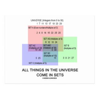 All Things In The Universe Come In Sets Postcards