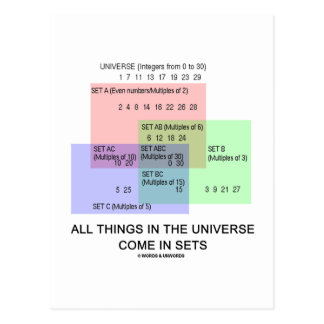 All Things In The Universe Come In Sets Post Card