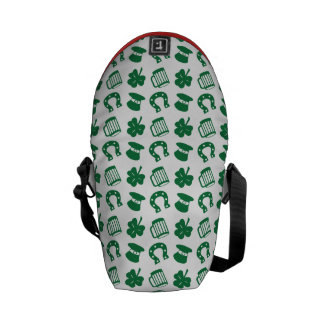 all things irish, pattern courier bag