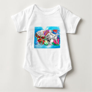 """All things Kiwi"" created from a child's drawings Baby Bodysuit"