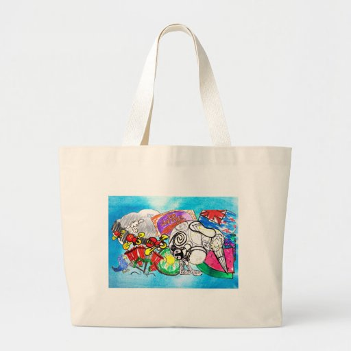 """All things Kiwi"" created from a child's drawings Tote Bags"