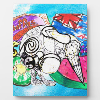 """""""All things Kiwi"""" created from a child's drawings Plaque"""