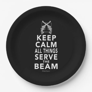 All Things Serve The Beam Paper Plate