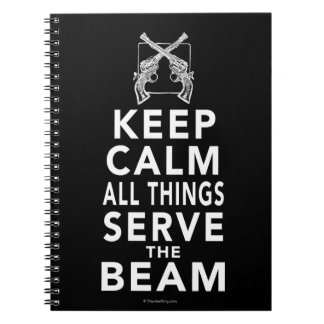All Things Serve The Beam Spiral Notebook