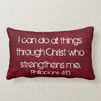 all things through Christ bible verse pillow
