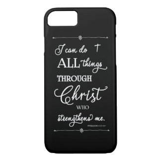 All Things Through Christ - Philippians 4:13 iPhone 8/7 Case
