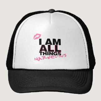 All Things White Trucker Hat