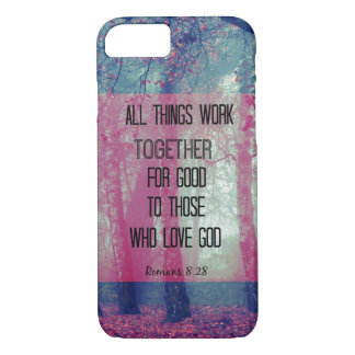All things work together for Good Bible Verse iPhone 8/7 Case