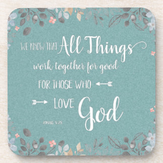 All Things Work Together - Rom 8:28 Coaster