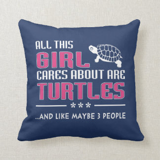 All This Girl Cares About Are Turtles Throw Pillow