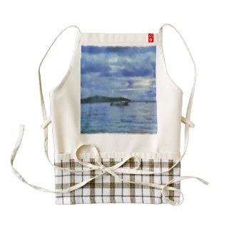 All this water for one boat zazzle HEART apron