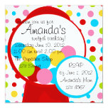All Those Gumballs! 5.25x5.25 Square Paper Invitation Card