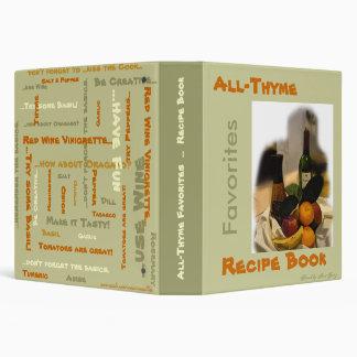 All-Thyme Favorites Recipe Book Binder