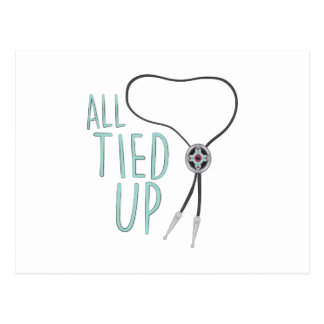 All Tied Up Postcard