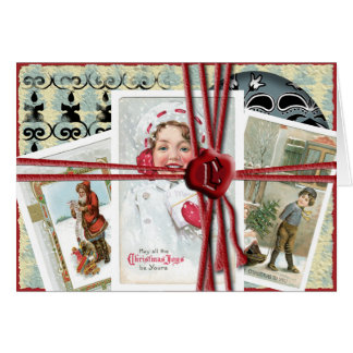 All tied up with String greeting card
