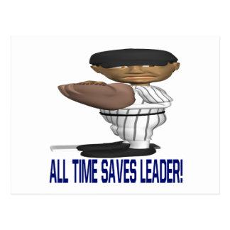 All Time Saves Leader Postcard