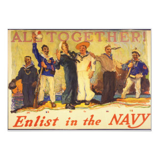 All Together! Enlist in the Navy World War 1 1917 Card