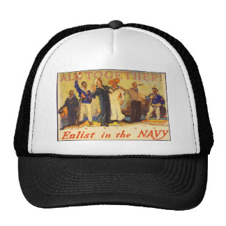 All Together! Enlist in the Navy World War 1 1917 Hat