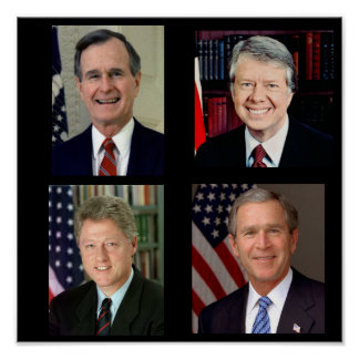 All Together /George H. W. Bush/Bill Clinton Poster