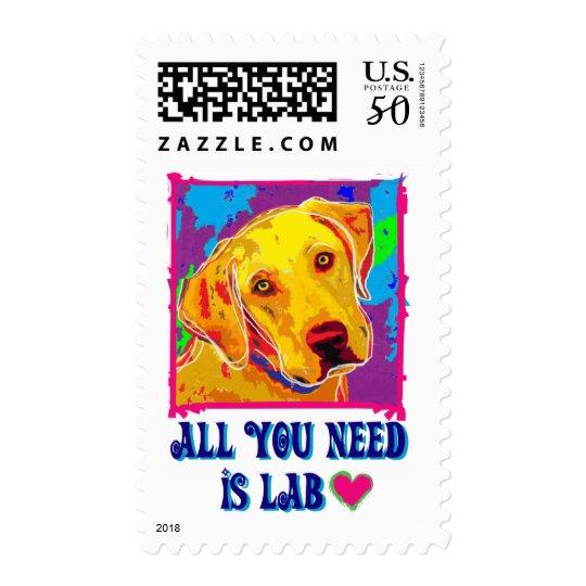 All U Need Is Lab Postage