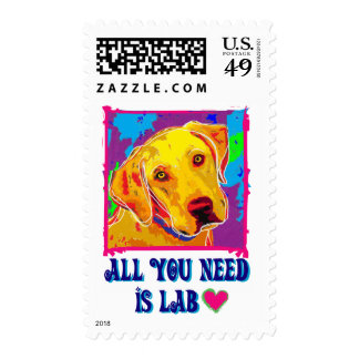 All U Need Is Lab Postage Stamps
