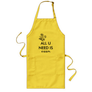 ALL U NEED IS SEED LONG APRON