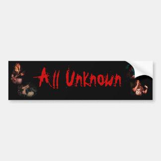 All unknown car bumper sticker