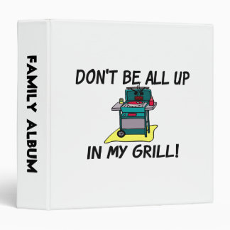 All Up In My Grill Vinyl Binder