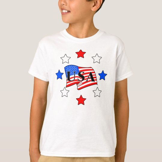 All USA Flag and Stars T-Shirt