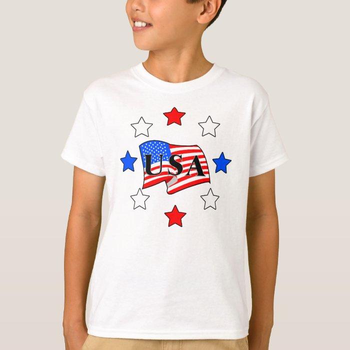 All USA Flag and Stars T-Shirt