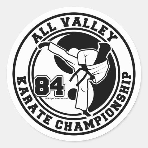 All Valley Karate Championship Classic Round Sticker