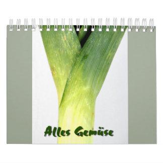 All vegetable calendar