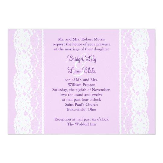 French Vintage Wedding Invitations: All Vintage French Lace Wedding Invitation (lilac