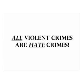 All Violent Crimes Are Hate Crimes Postcard