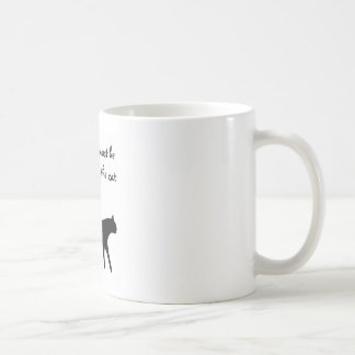 All visitors must be approved by the cat cute sign coffee mug