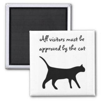 All visitors must be approved by the cat magnet! magnet