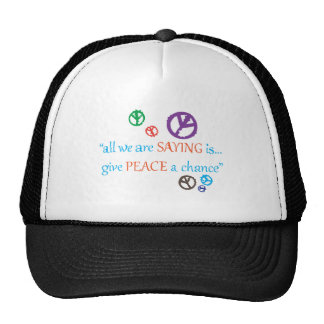 ALL WE ARE SAYING TRUCKER HAT