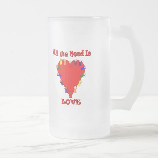 All We Need Is Love Frosted Mug