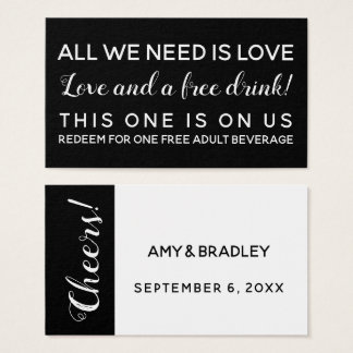 All We Need is Love, Funny BW Drink Tickets