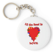All We Need Is Love Keychain