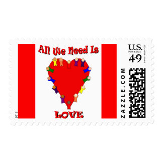 All We Need Is Love Stamp (striped)