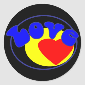 All We Need is Love Round Stickers