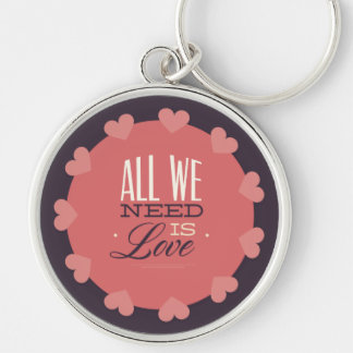 All We Need Is Love Typology Keychain