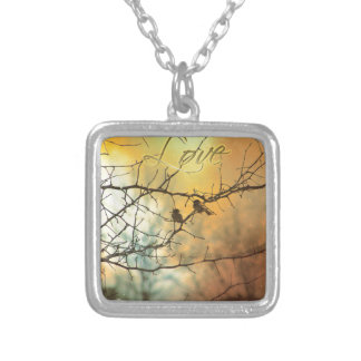 All We Need Is Us - A Card for someone Special Square Pendant Necklace