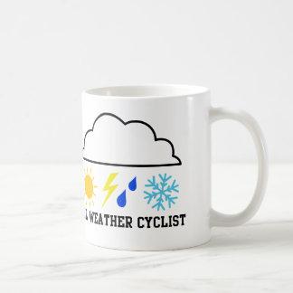 All Weather Cyclist Coffee Mug